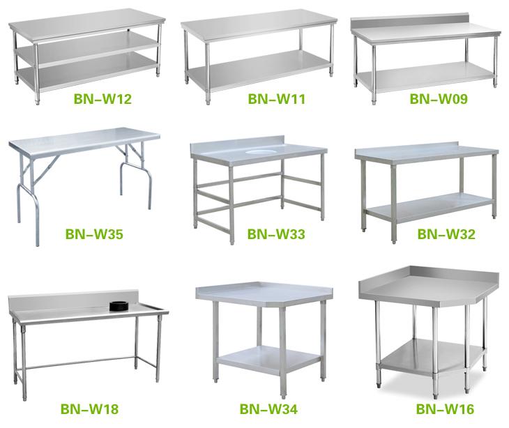 Comercial de cocina de acero inoxidable mesa de trabajo - Mesa de trabajo cocina ...