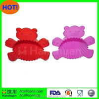 Homemade bear shape silicone cup cake mould/ DIY silicone bakeware