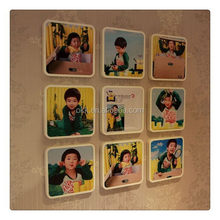 Customized hot sell pmma photo frame with foot