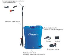 Electric sprayer,battery power knapsack sprayer, backpack electric sprayer 16L