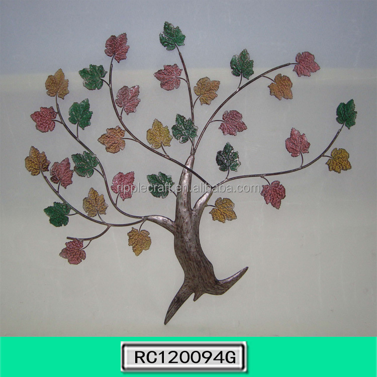 Color en fer forg arbre m tal wall art d cor d coration for Decor mural fer forge