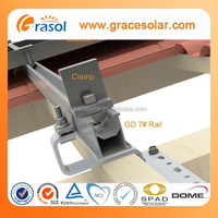 roof solar mounting hook grid on aluminum solar kit system energy