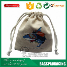 fashion recyclable drawstring cotton bag for gift