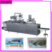automatic gift card blister plastic paper blister packing packaging machine