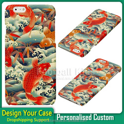 Luxury Fish jump design printing Blank phone Case Cover for iPhone 6 6S Plus dropshipping