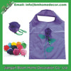 Foldable Grocery Shopping Tote Bag / Rose Shape Reusable Recycle Shopping Tote Bag