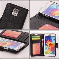 For samsung galaxy S5 Flip Mobile Phone Case with Stand Credit Card Slot