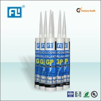 Black, white, gray, clear half flow silicone sealant