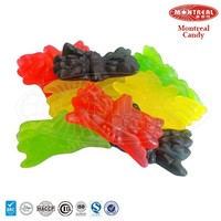 Multi-color spider shaped gummy candy confectionery