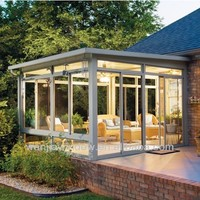 Energy saving aluminium glass sunroom