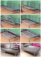 Furniture parts folding sofa futon frame
