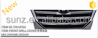 Top selling chrome front grill cover for TOYOTA INNOVA 2013 - plastic front car grille parts for toyota innova accessories