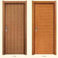 Sapele Natural plain Solid wood plywood door in Foshan City China