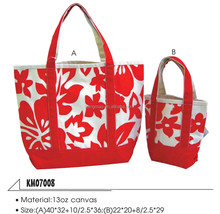 new design recycled custom printing canvas shopping bag