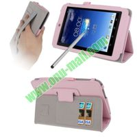 Wrinkly Texture Leather Case Cover for Asus memo pad hd 7 with Holder and Touch Pen