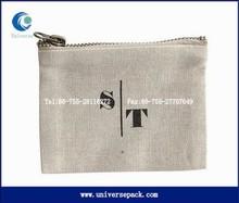 custom design zipper cloth pouch