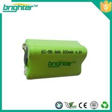 india 7.2v aaa 800mah ni-mh recharge battery pack