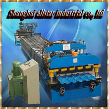 Step Steel Glazed Tile Roll Forming Machine, Different Shapes Roofing Panel