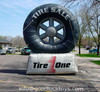Atractive advertising giant inflatable tyre for advertising