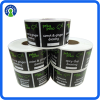 China factory OEM direct order for frozen food labels and PVC sticker labels for food containers
