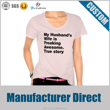 Alibaba Popular Custom Made Lady T-shirt Your Own Logos
