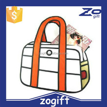 ZOGIFT wholesale 54 style retro fashion cartoon computer bag,camera cartoon shoulder 2d bag gismo carry in space.