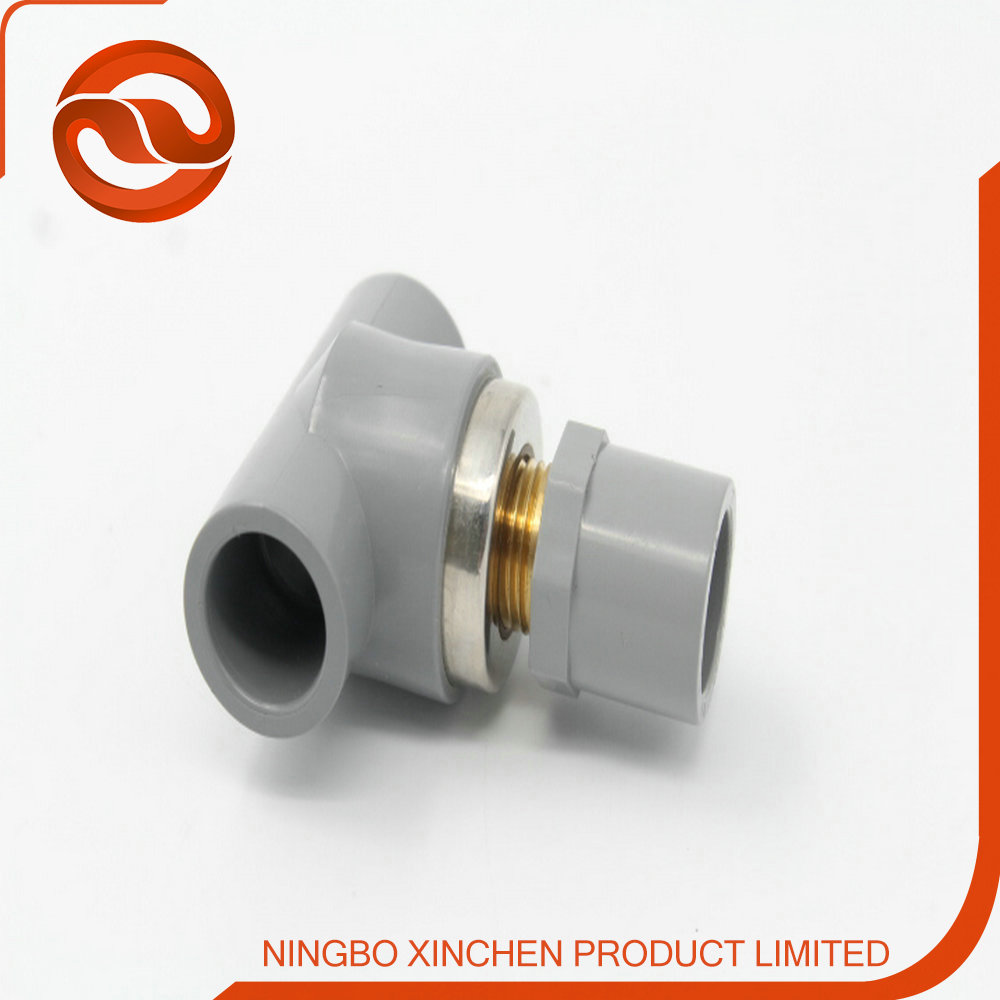 Factory sell upvc cpvc tee plastic pipe fitting with for Copper to plastic fittings