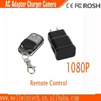 full 1080P remote control plug camera with video, audio, motion detection hidden charger camera