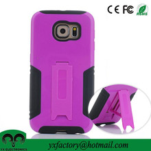 mobile phone accessories 2015 dual layer cell phone cases manufacturer for samsung s6 case