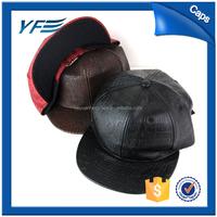Brown Leather Strap Snapback Hats Custom/Bulk Plain Snapback/Bulk Snapback