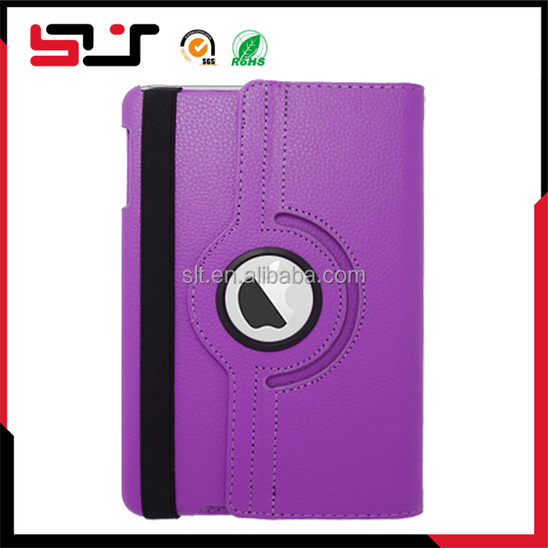 Fashion stylish flip pu pouch protective leather book case for ipad mini 2