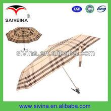 21'' auto folding aluminium sun/rain umbrella for advertising