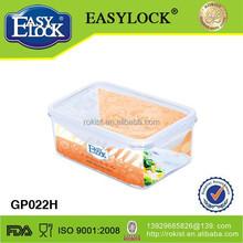 BPA Free walmart plastic storage bins with Lid 600ML/20oz