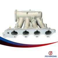 PQY RACING-EG EK DA DC2 B16A B16B B17A1 B18C5 Aluminum Cast Intake Manifold Upgrade Bolt On PQY-IM42CA