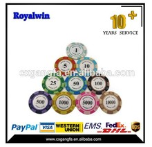 100pcs 11.5g dice chip set,poker set in plastic poker case