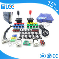 New Arcade part kit DIY Accessories 412 In One 16A Power supply 16 x Button 2 x Joystick For Arcade MAME JAMMA Games DIY 2Player