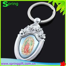 zinc alloy Virgin Mary keyring relgious key ring