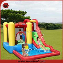 Hot Sale Commercial Wet And Dry Play Combo Bounce House/Giant Inflatable Water Slide