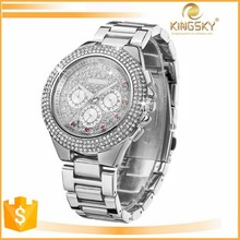 2015 kingsky wholesale big face cheap wrist watch for lady