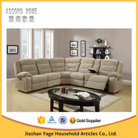 Modern new design big luxury corner recliner sofa for living room