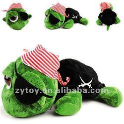 plush green turtle/Plush turtle pirate/plush big eyes turtle toy