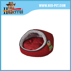 High quality waterproof 600D oxford fabric dog bed / oval shape pet sleeping nest green color