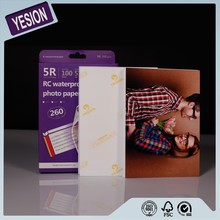 2015 Yesion high quailty glossy silk satin rough Rc photo paper 4x6