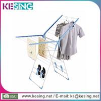 Light Blue Steel folding Collapsible fancy clothes hanger