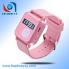2015 most popular lovely pink wrist watch gps tracking device for kids LDW-TKW19G