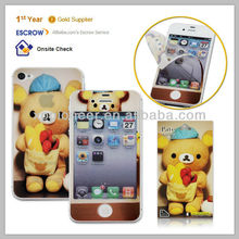 Cover washable screen protector cell phone cartoon sticker skin for iphone 4 4s Manufacturer