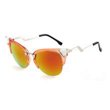European style orange cat 3 uv400 sunglasses glitter sunglasses