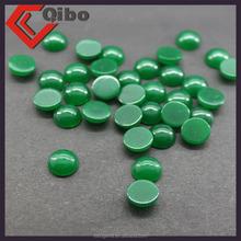 8mm green jade cabcochon natural flat stone