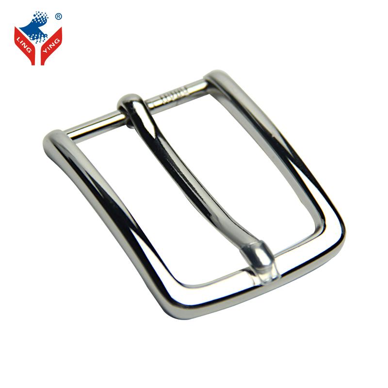 Linging semplice argento pianura fibbia per cintura, personalizzato pin fibbia della cintura per l'uomo