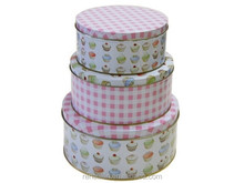 Round Cookie Tin Can/Cookie Tin Box/Tin Container For Cookie